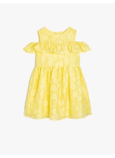 Koton Kids Omuz Detaylı Elbise Sarı